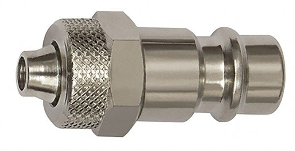 Nipple for couplings I.D. 7.2 - I.D. 7.8, Steel, for hose 8x6 - 12x9