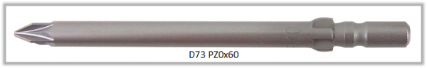Vessel Industriebit für Pozidriv-Schrauben WING SHANK BIT Ø4mm PZ 0 X Ø4.0 X 60 (mm)