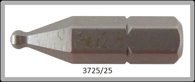 """10 Stück Vessel Industriebit Hexagonal-Schrauben INSERT BIT 1/4"""" HEX E6.3 BP HEX 2.5 X 25 (mm)"""