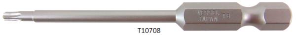 """Vessel Industriebit für Torx-Schrauben POWER BIT 1/4"""" HEX E6.3  TX 8 X Ø3.18 X 70 (mm)"""
