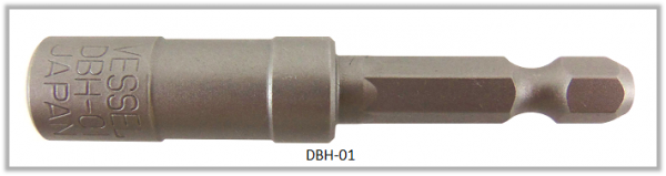 "Vessel BIT HOLDER 1/4"" HEX E6.3 L = 60 (mm)"