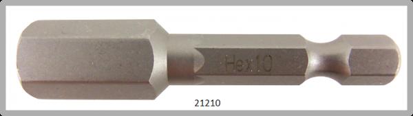 """10 Stück Vessel Industriebit Hexagonal-Schrauben POWER BIT 1/4"""" HEX E6.3  HEX 10.0 X 49 (mm)"""