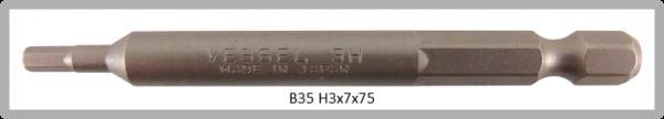 """10 Stück Vessel Industriebit Hexagonal-Schrauben POWER BIT 1/4"""" HEX E6.3  HEX 3.0 X Ø7.0 X 75 (mm)"""