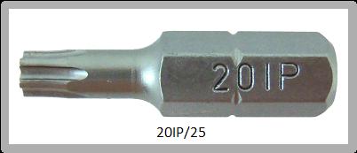 """Vessel Industriebit für Torx-Plus-Schrauben INSERT BIT 1/4"""" HEX E6.3 20IP X 25 (mm)"""