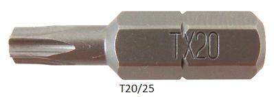 """Vessel Industriebit für Torx-Schrauben INSERT BIT 1/4"""" HEX E6.3 TX 20 X 25 (mm)"""