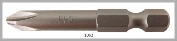 """Vessel Industriebit für Phillips-Schrauben POWER BIT 1/4"""" HEX E6.3  PH 2 X Ø6.35 X 49 (mm)"""