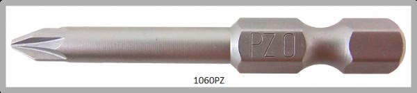 """Vessel Industriebit für Pozidriv-Schrauben POWER BIT 1/4"""" HEX E6.3  PZ 0 X Ø3.17 X 49 (mm)"""