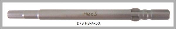 10 Stück Vessel Industriebit Hexagonal-Schrauben WING SHANK BIT Ø4mm HEX 3.0 X Ø4.0 X 60 (mm)