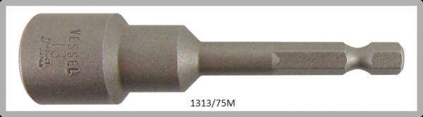 """10 Stück  Vessel magnetische HEX Steckschlüssel POWER BIT 1/4"""" HEX E6.3  A/F 13.0 X Ø19.0 X 75 (mm)"""