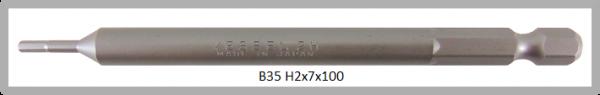"""10 Stück Vessel Industriebit Hexagonal-Schrauben POWER BIT 1/4"""" HEX E6.3  HEX 2.0 X Ø7.0 X 100 (mm)"""