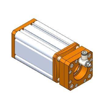 Camera housing aluminium alloy with active air flow (MNOK-C)