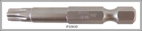 """Vessel Industriebit für Torx-Plus-Schrauben POWER BIT 1/4"""" HEX E6.3  IP 30 X Ø6.35 X 49(mm)"""