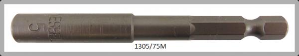 """10 Stück  Vessel magnetische HEX Steckschlüssel POWER BIT 1/4"""" HEX E6.3  A/F 5.0 X Ø8.5 X 75 (mm)"""