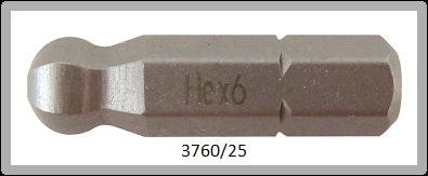 """10 Stück Vessel Industriebit Hexagonal-Schrauben INSERT BIT 1/4"""" HEX E6.3 BP HEX 6.0 X 25 (mm)"""