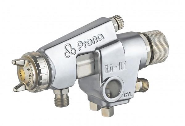 Set Automatik Farbspritz Luftpistole Prona RA-1 mit Fließbecher