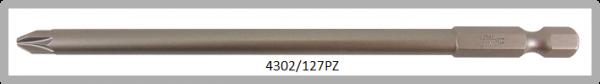 """Vessel Industriebit für Pozidriv-Schrauben POWER BIT 1/4"""" HEX E6.3  PZ 2 X Ø6.0 X 127 (mm)"""