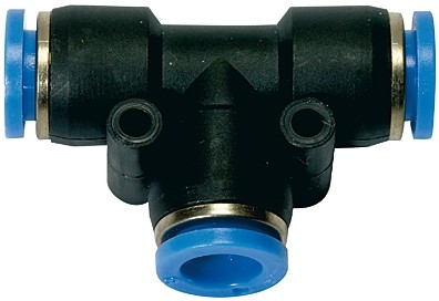 Push-in T-connector »Blue Series«, for hose exterior Ø 4 - 12 mm