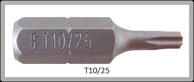 """Vessel Industriebit für Torx-Schrauben INSERT BIT 1/4"""" HEX E6.3  TX 10 X 25 (mm)"""