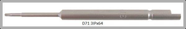 Vessel Industriebit für Torx-Plus-Schrauben HALF MOON BIT Ø4mm IP 3 X Ø1.7 X 20 X 64 (mm)