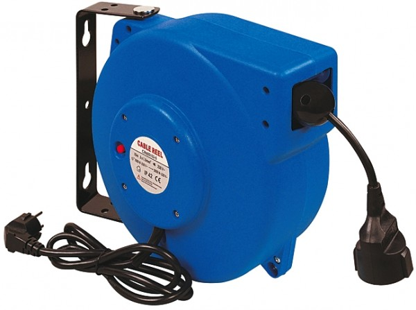 Elektro-Kabelaufroller, HO5VV-F, 230V, 50Hz, max. 10 Ampère, 15 m