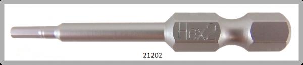 """10 Stück Vessel Industriebit Hexagonal-Schrauben POWER BIT 1/4"""" HEX E6.3  HEX 2.0 X Ø3.5 X 49 (mm)"""
