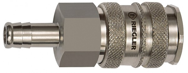 Quick-connect coupling I.D. 10, Steel/nickel-plated brass, I.D.10 - 13