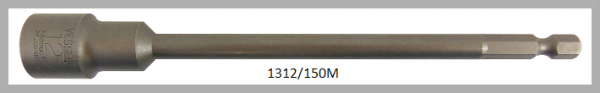 """10 Stück  Vessel magnetische HEX Steckschlüssel POWER BIT 1/4"""" HEX E6.3  A/F 12.0 X Ø19.0 X 150 (mm)"""