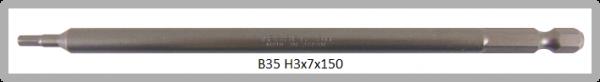"""10 Stück Vessel Industriebit Hexagonal-Schrauben POWER BIT 1/4"""" HEX E6.3  HEX 3.0 X Ø7.0 X 150 (mm)"""