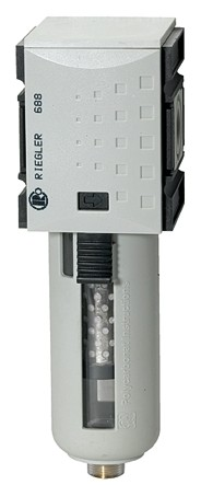 Aktivkohlefilter »FUTURA«, PC-Behälter u. Schutzkorb, BG 2, G 3/8 - 1/2