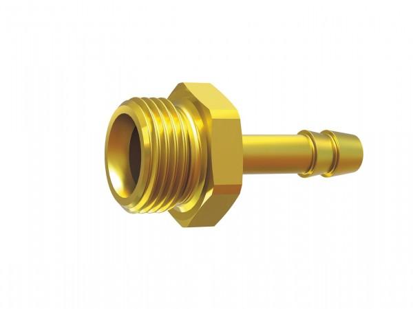Screw-in hose connector, G 1/4 - 3/8 left, for hose I.D. 6 - 9 mm, AF 17 - 19