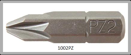"""Vessel Industriebit für Pozidriv-Schrauben INSERT BIT 1/4"""" HEX E6.3 PZ 2 X 25 (mm)"""