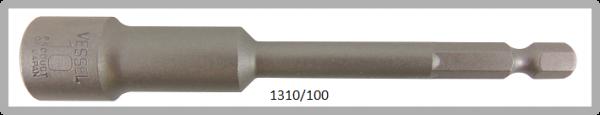 """10 Stück Vessel HEX Steckschlüssel POWER BIT 1/4"""" HEX E6.3 A/F 10.0 X Ø16.0 X 100 (mm)"""