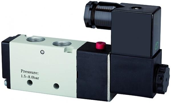 5/2-way valve, electropneumatic, »4V«, monostable, M5 - G 1/8 - /1/2, 24 V DC