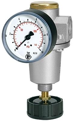 Druckregler mit Sekundärentlüftung, Manometer, BG 2, G 1/2, 0,5 - 10 bar