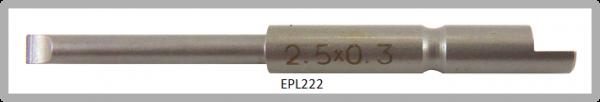 Vessel Industriebit für Schlitz-Schrauben HALF MOON BIT Ø4mm 0.3xØ2.5 X 20 X 44 (mm)