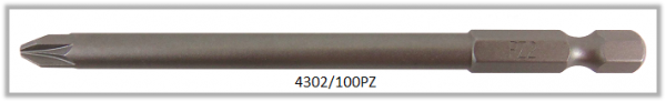 """Vessel Industriebit für Pozidriv-Schrauben POWER BIT 1/4"""" HEX E6.3  PZ 2 X Ø6.0 X 100 (mm)"""