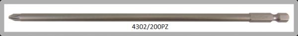 """Vessel Industriebit für Pozidriv-Schrauben POWER BIT 1/4"""" HEX E6.3  PZ 2 X Ø6.0 X 200 (mm)"""