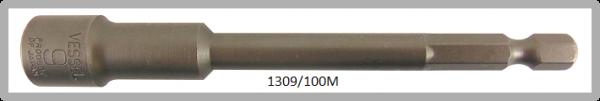 """10 Stück  Vessel magnetische HEX Steckschlüssel POWER BIT 1/4"""" HEX E6.3  A/F 9.0 X Ø14.0 X 100 (mm)"""