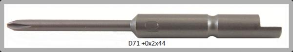 Vessel Industriebit für Phillips-Schrauben HALF MOON BIT Ø4mm PH 0 X Ø2.0 X 20 X 44 (mm)