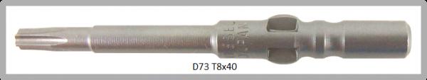 Vessel Industriebit für Torx-Schrauben WING SHANK BIT Ø4mm  TX 8 X Ø2.5 X 20 X 40 (mm)