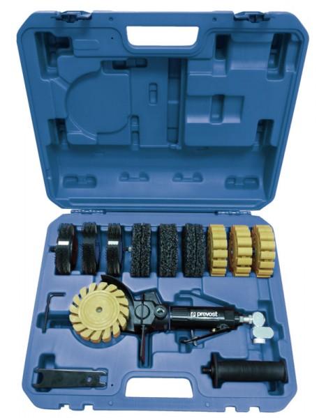 """Druckluft-Bürstmaschine im Koffer Prevost TMB 3500K R 1/4"""" Schleifteller 10 mm mit 3.500 rpm"""