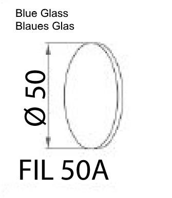 Blaues Glas PIK LED
