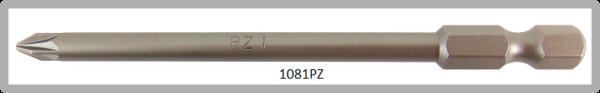 """Vessel Industriebit für Pozidriv-Schrauben POWER BIT 1/4"""" HEX E6.3  PZ 1 X Ø4.76 X 89 (mm)"""