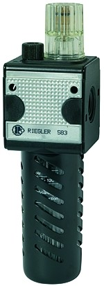 Mist oiler »multifix«, PC container, Protec. cage, Size 3, G 1/2