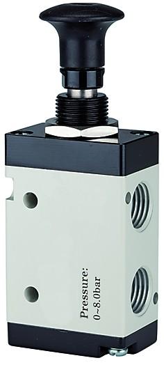 5/2-way valve, Push button actuation, »3L« G 1/8 - 3/8