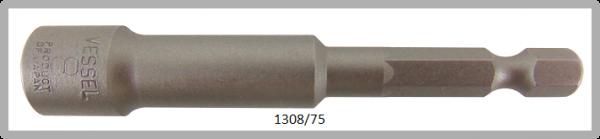 """10 Stück  Vessel HEX Steckschlüssel POWER BIT 1/4"""" HEX E6.3  A/F 8.0 X Ø13.0 X 75 (mm)"""