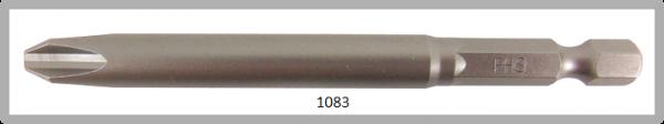 """Vessel Industriebit für Phillips-Schrauben POWER BIT 1/4"""" HEX E6.3  PH 3 X Ø8.0 X 89 (mm)"""