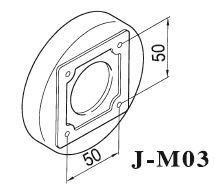 JM03 Magnetsockel für LED Maschinenleuchten; Lochabstand im Lampensockel 50 mm