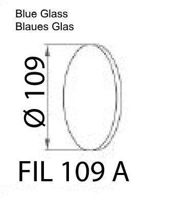 Blaues Glas für CLIK LED Maschinenleuchte