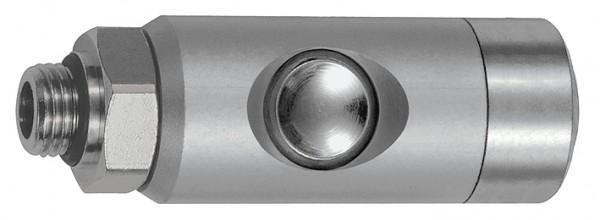 Druckknopf-Sicherheitskupplung NW 5,5, drehbar, Alu, G 1/4 - 1/2, AG oder IG